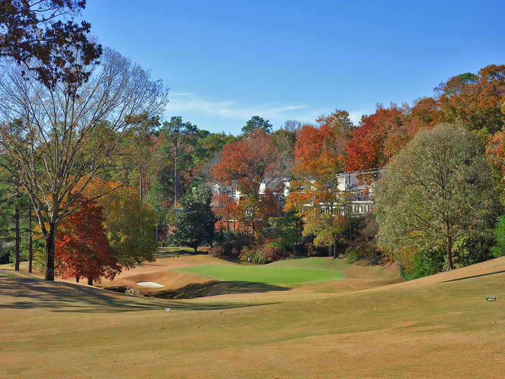 7th Hole at Country Club of Birmingham (West) (483 Yard Par 4)