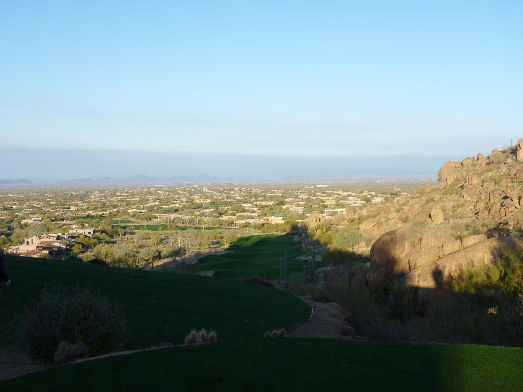 1st Hole at Desert Highlands (350 Yard Par 4)