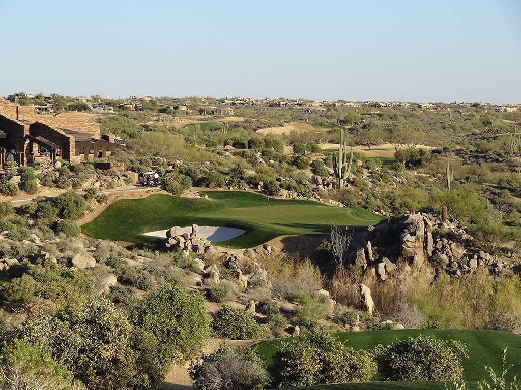 18th Hole at Desert Mountain Golf Club (Geronimo) (197 Yard Par 3)