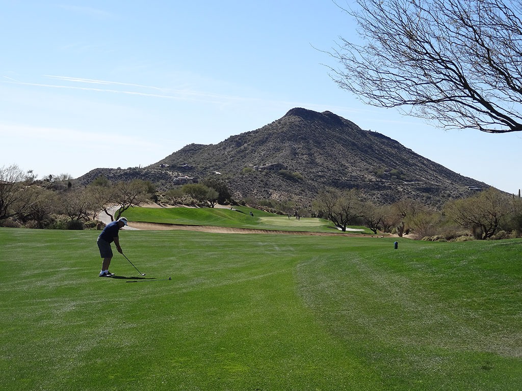 2nd Hole at Desert Mountain (Geronimo) (489 Yard Par 4)