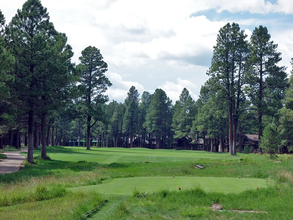 7th Hole at Forest Highlands Golf Club (Canyon) (476 Yard Par 4)