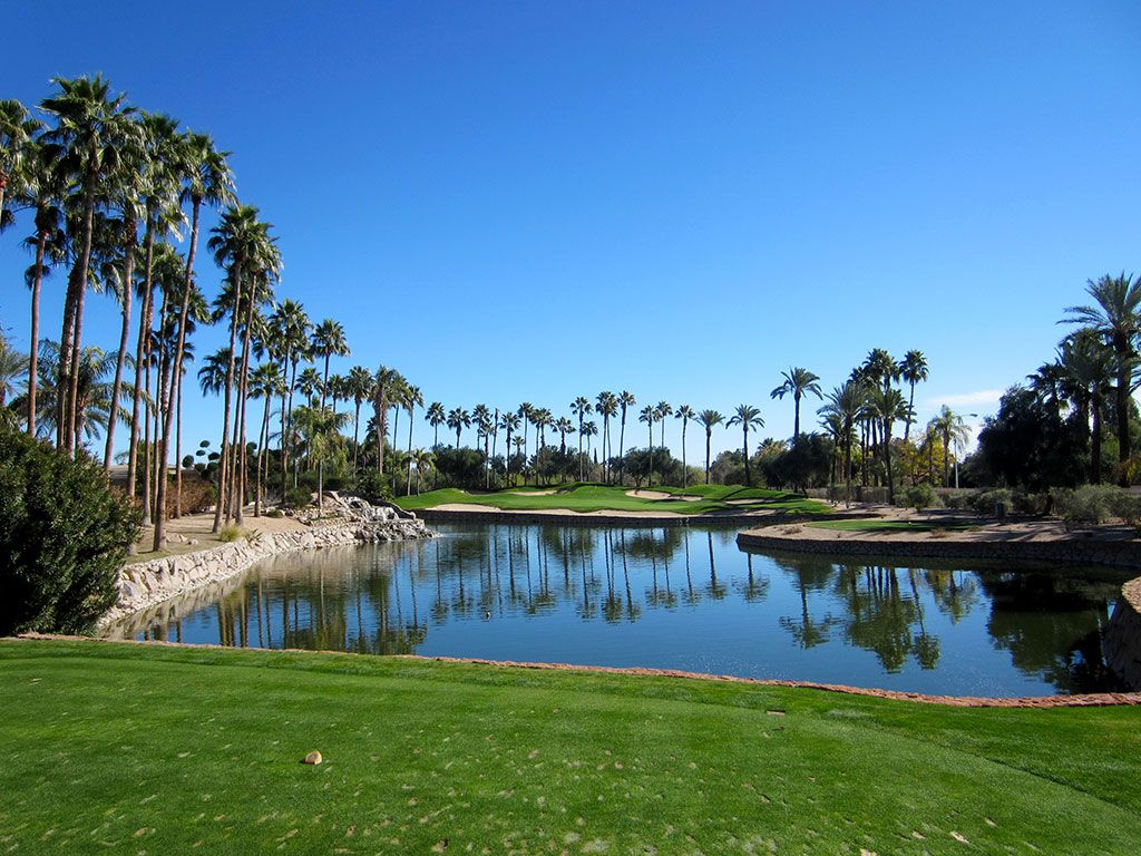8th (Canyon) Hole at The Phoenician Resort (132 Yard Par 3)