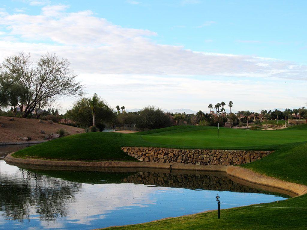 3rd (Desert) Hole at Phoenician Resort (303 Yard Par 4)