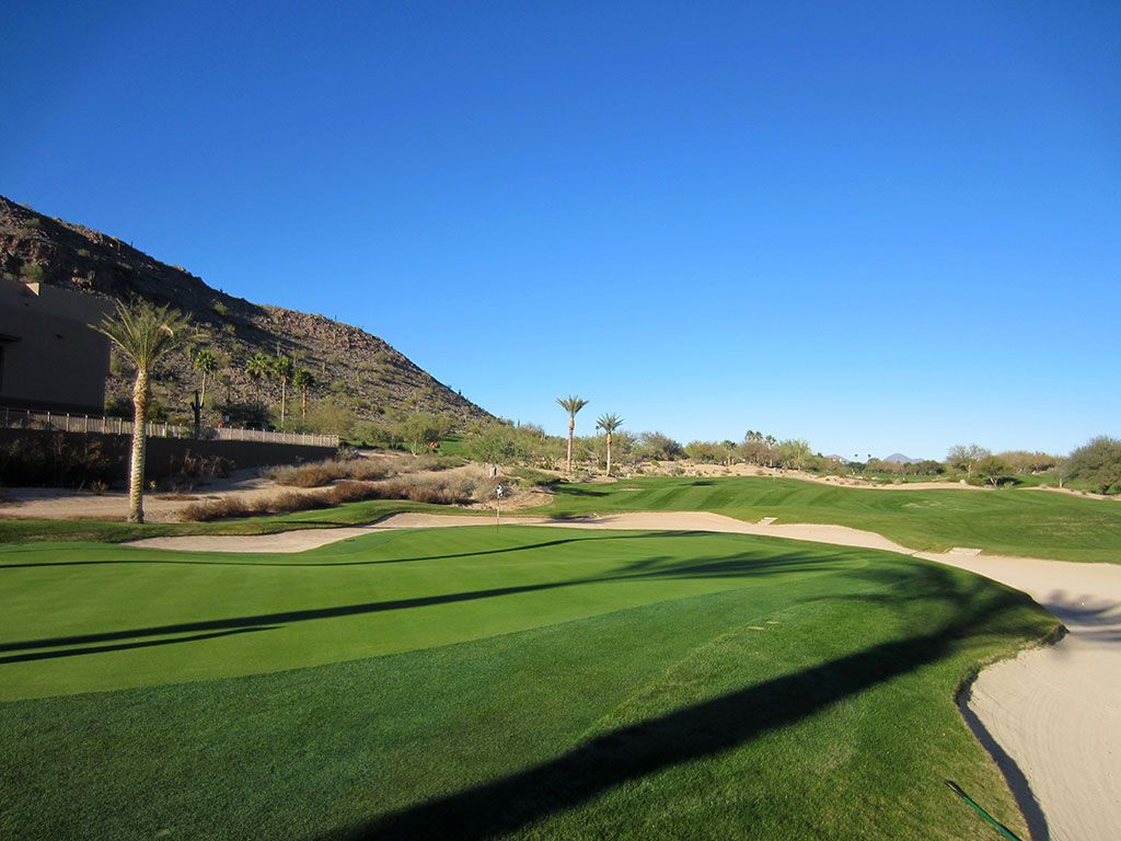 9th (Oasis) Hole at The Phoenician Resort (321 Yard Par 4)