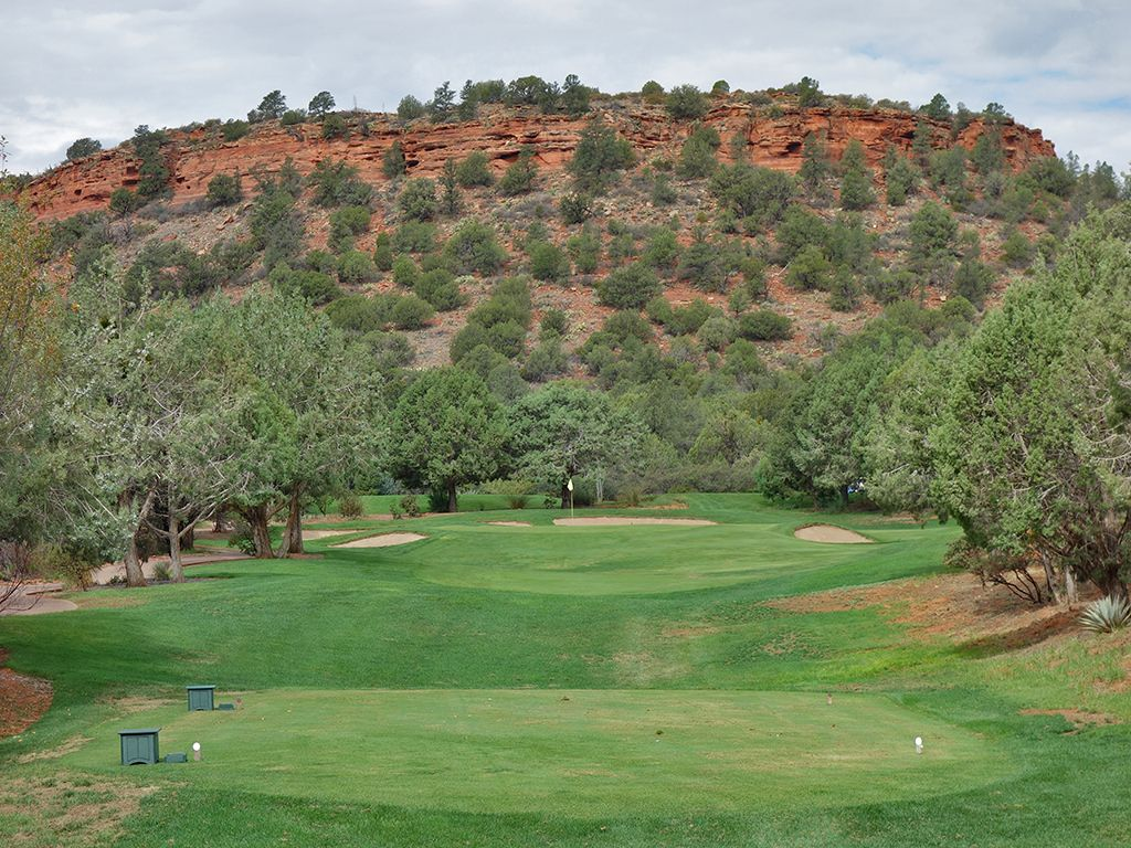 10th Hole at Seven Canyons Golf Club (161 Yard Par 3)