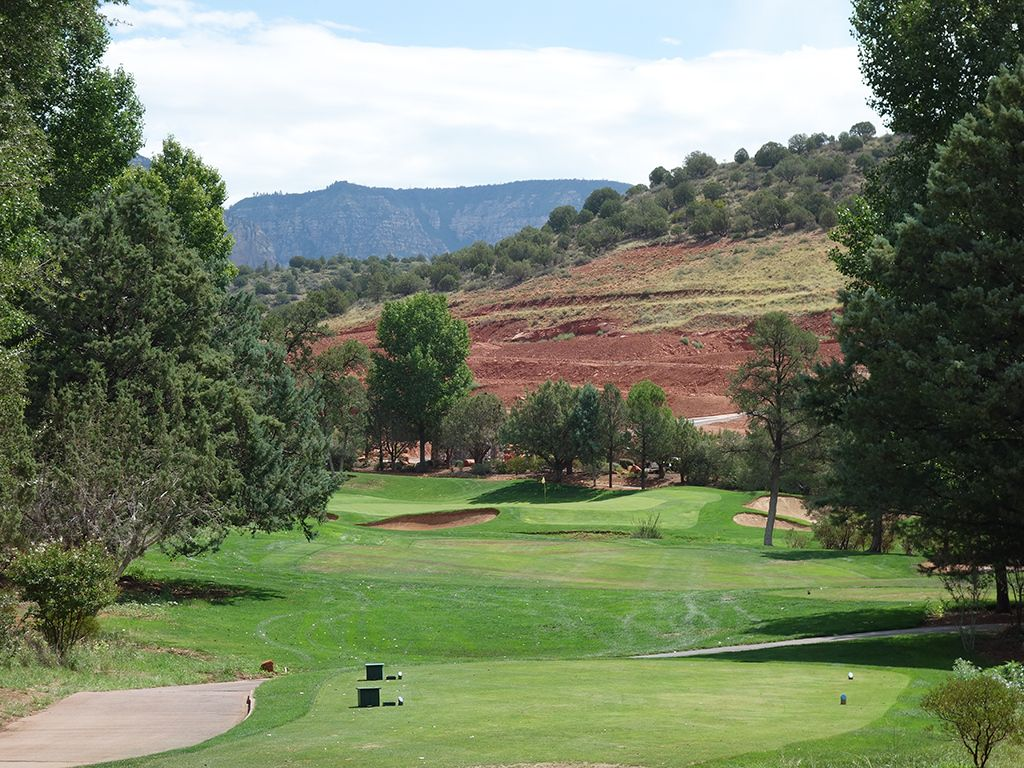 17th Hole at Seven Canyons Golf Club (246 Yard Par 3)