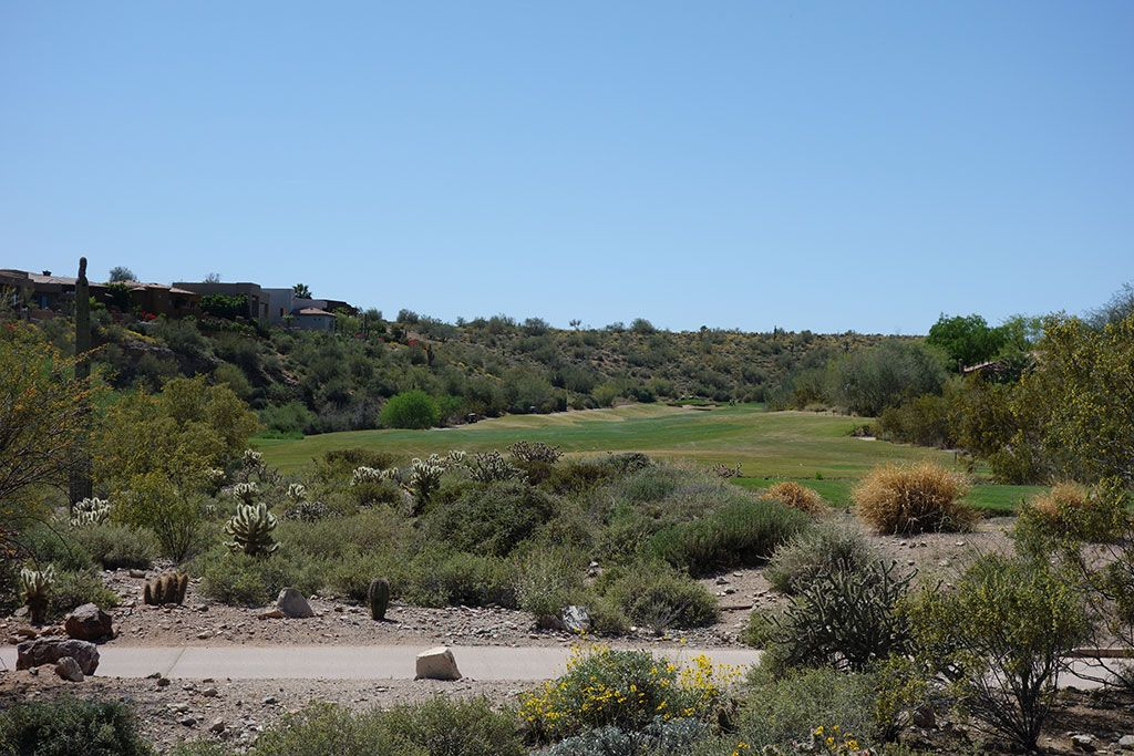 13th Hole at SunRidge Canyon Golf Club (578 Yard Par 5)