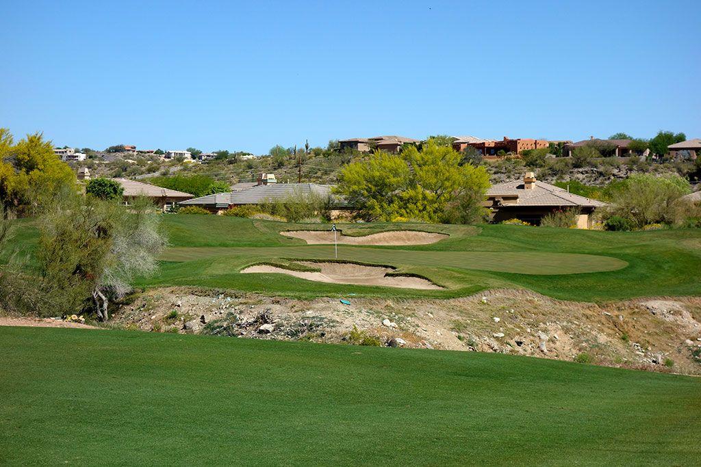 7th Hole at SunRidge Canyon Golf Club (373 Yard Par 4)