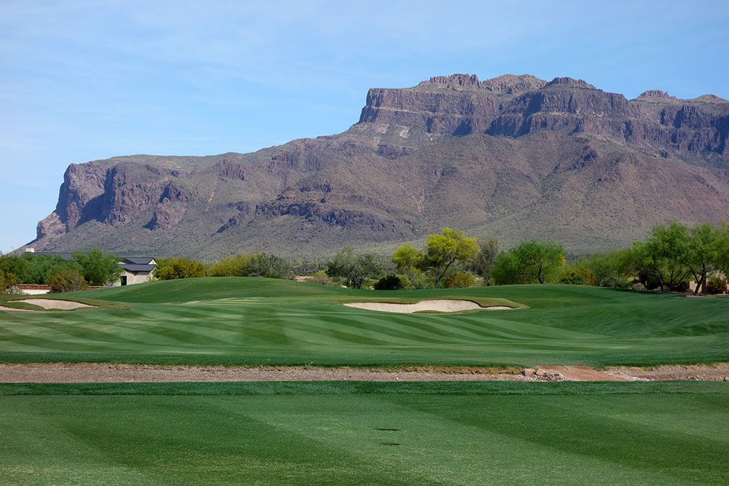 13th Hole at Superstition Mountain Golf Club (Lost Gold) (399 Yard Par 4)