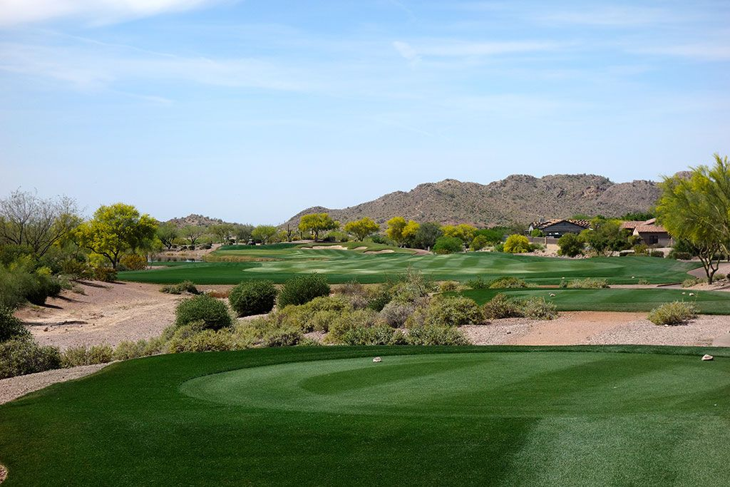 18th Hole at Superstition Mountain (Lost Gold) (467 Yard Par 4)