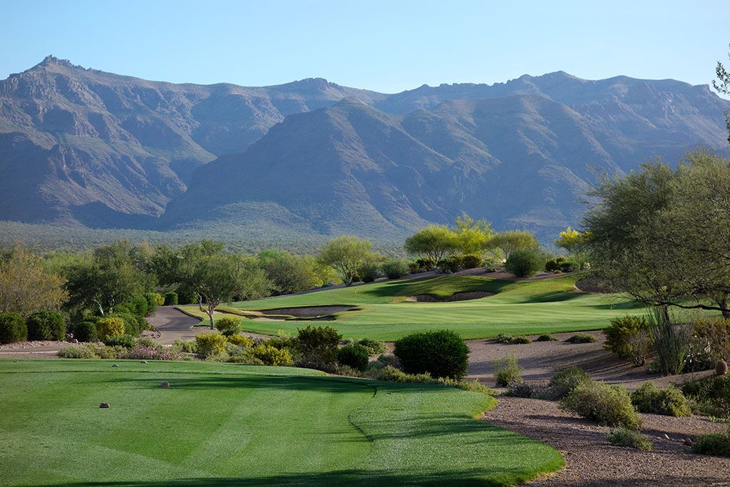 4th Hole at Superstition Mountain Golf Club (Lost Gold) (208 Yard Par 3)