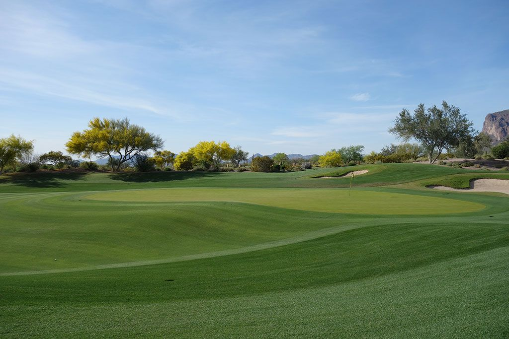 16th Hole at Superstition Mountain Golf Club (Prospector) (446 Yard Par 4)