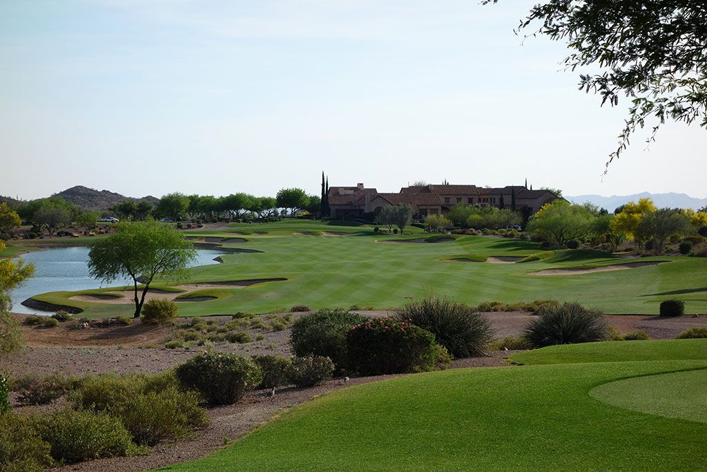 18th Hole at Superstition Mountain Golf Club (Prospector) (553 Yard Par 5)