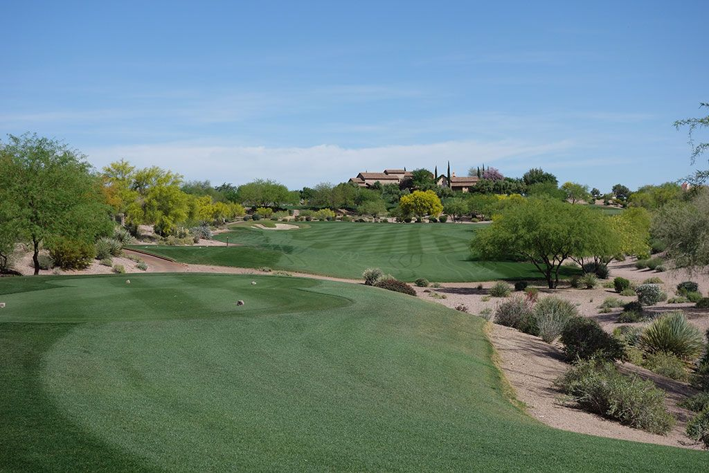 9th Hole at Superstition Mountain Golf Club (Prospector) (442 Yard Par 4)