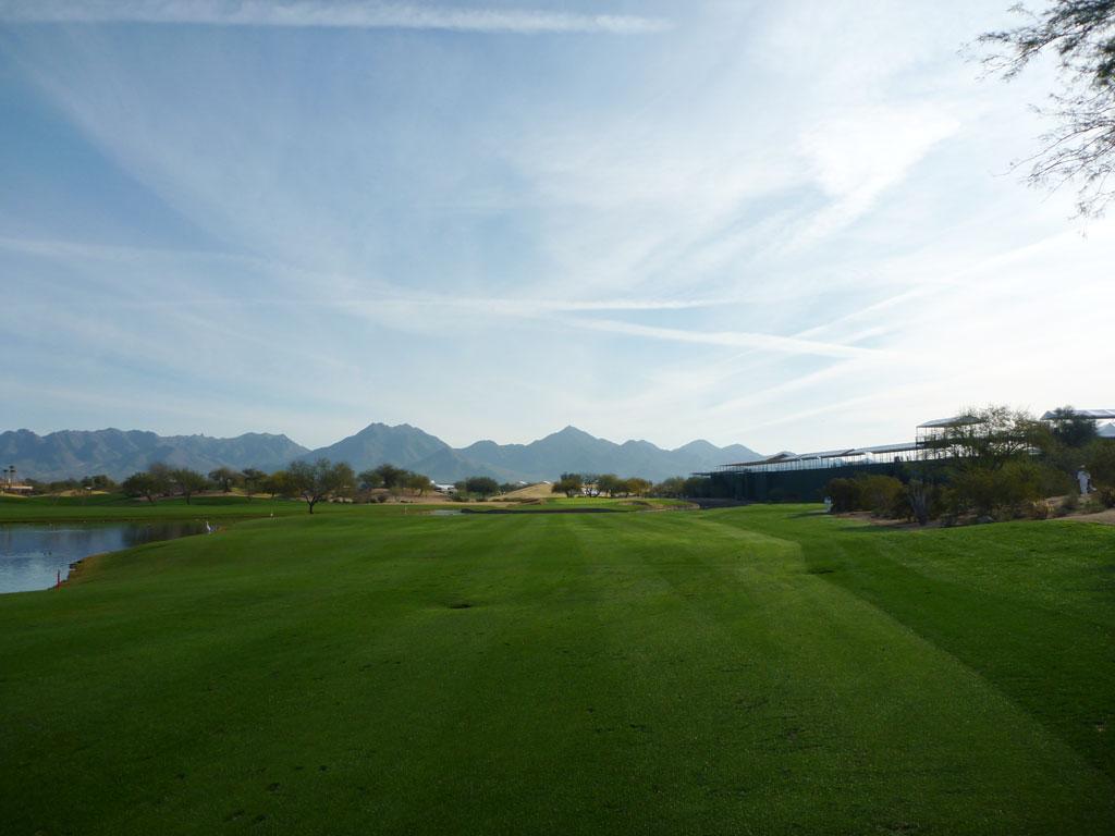 15th Hole at TPC Scottsdale (552 Yard Par 5)
