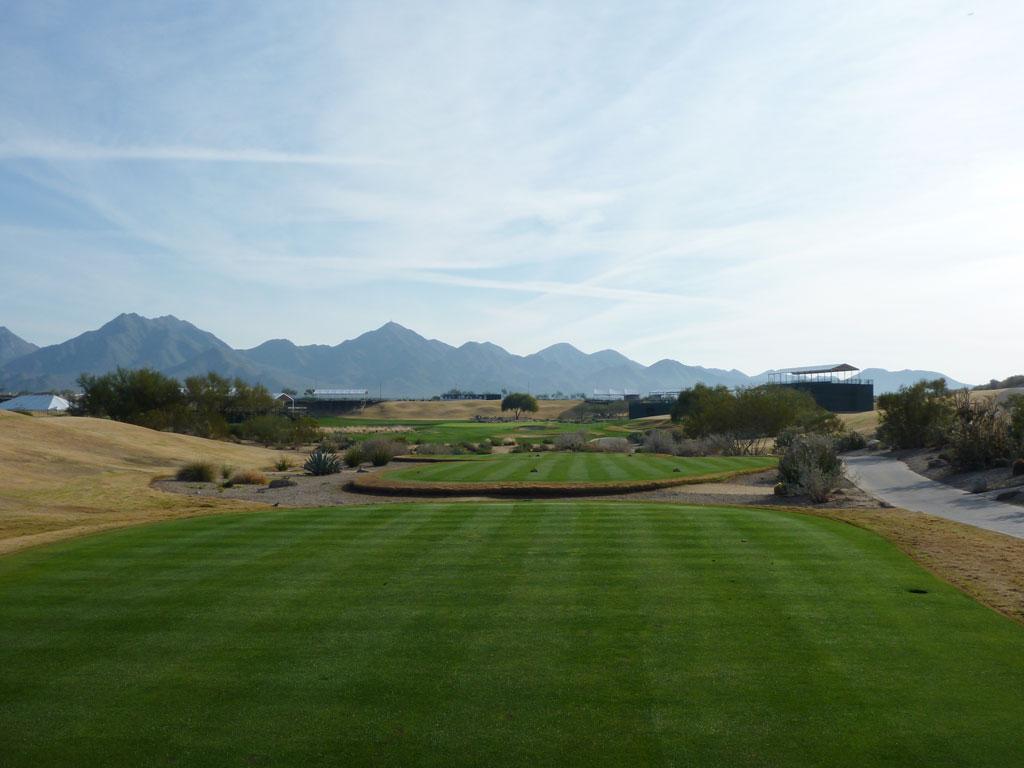 17th Hole at TPC Scottsdale (332 Yard Par 4)