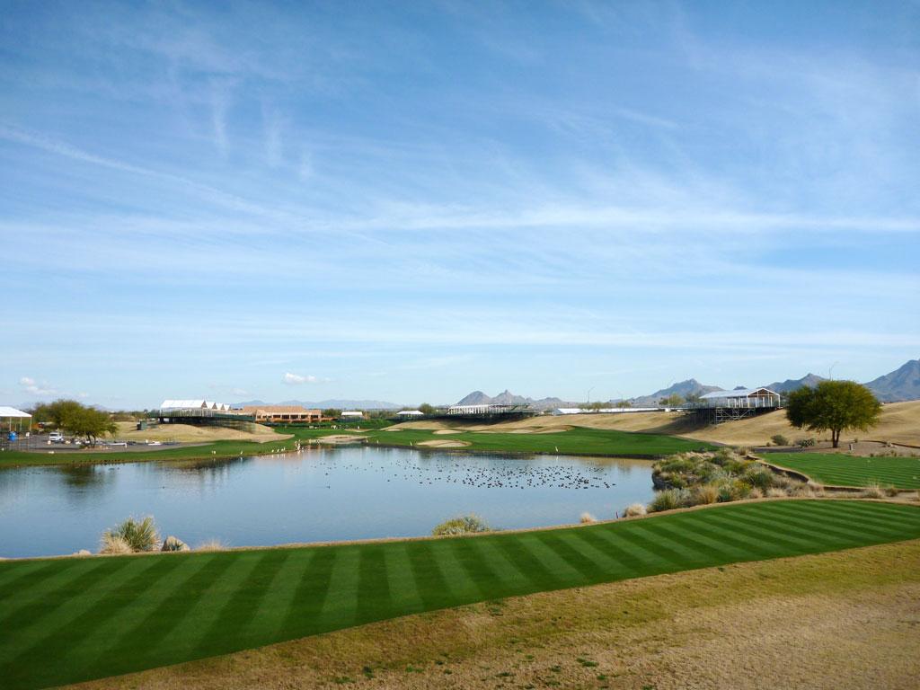 18th Hole at TPC Scottsdale (438 Yard Par 4)