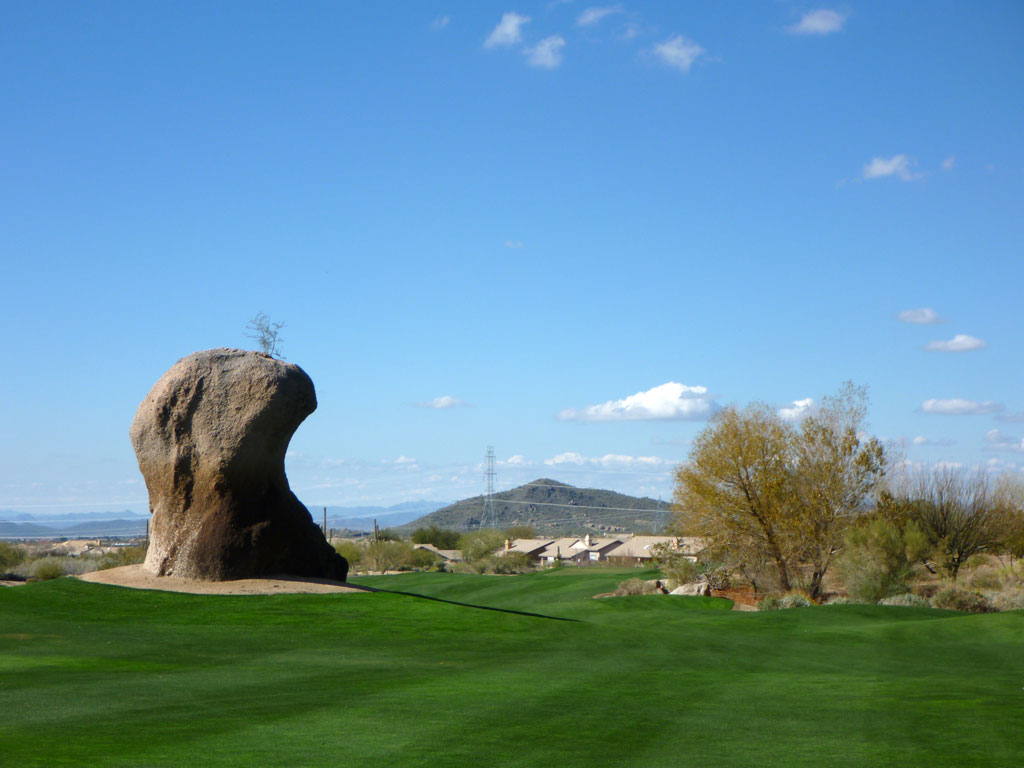 3rd Hole at Troon North (Monument) (564 Yard Par 5)