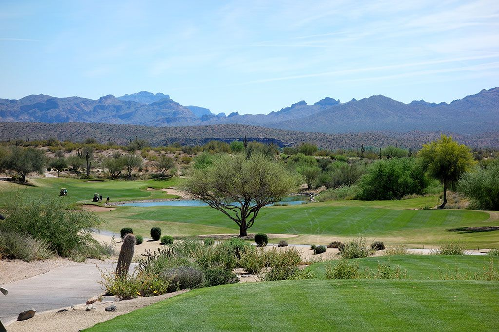 18th Hole at We-Ko-Pa Golf Club (Cholla) (432 Yard Par 4)