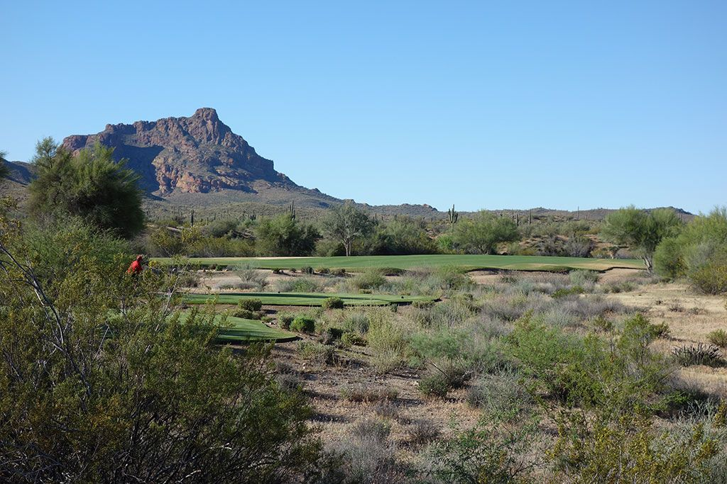 2nd Hole at We-Ko-Pa Golf Club (Cholla) (588 Yard Par 5)