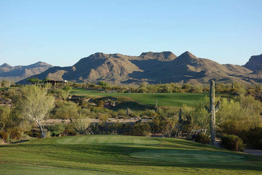 18th Hole at We-Ko-Pa (Saguaro) (508 Yard Par 4)