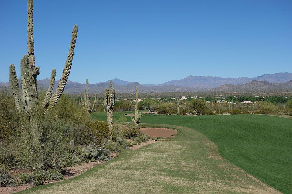 4th Hole at We-Ko-Pa (Saguaro) (631 Yard Par 5)