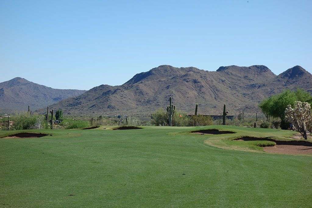 7th Hole at We-Ko-Pa (Saguaro) (331 Yard Par 4)