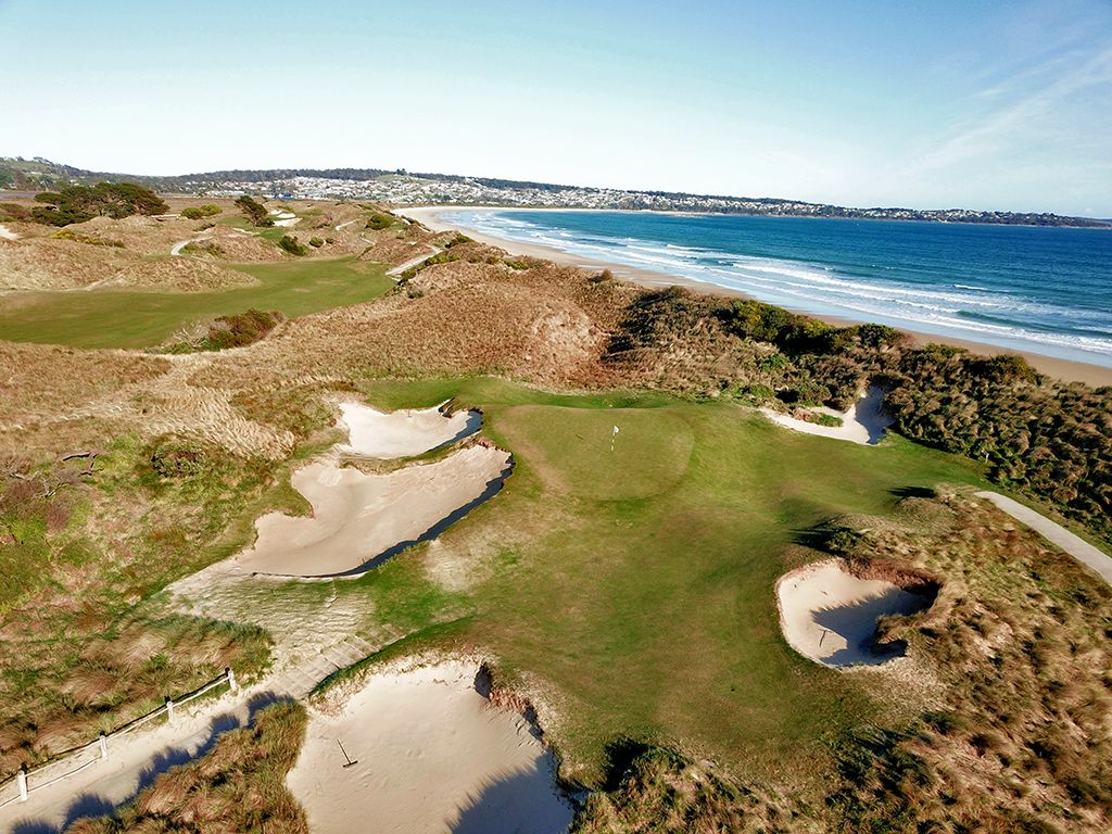 7th Hole at Barnbougle Dunes