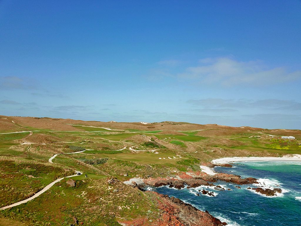 17th Hole at Cape Wickham Links (179 Yard Par 3)