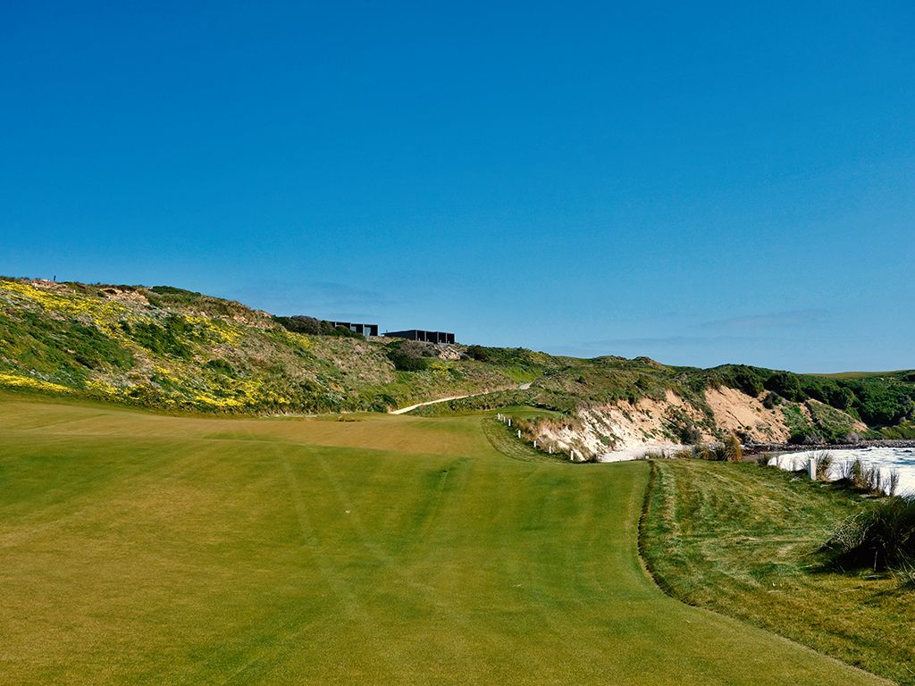 18th Hole at Cape Wickham Links (432 Yard Par 4)