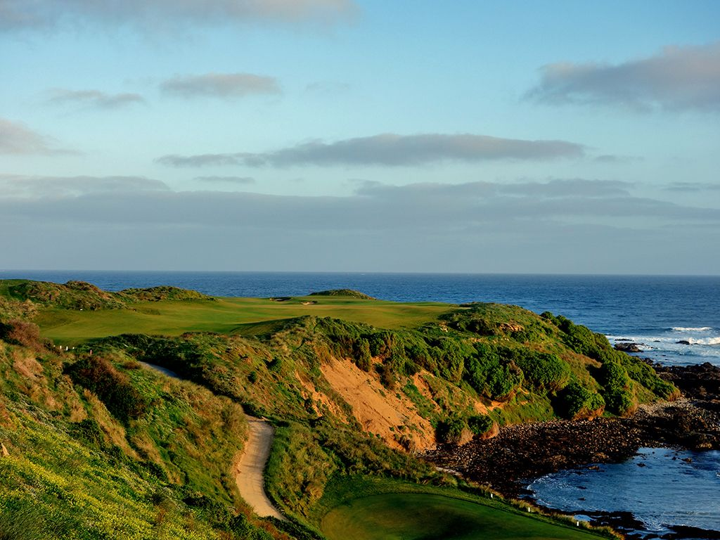 1st Hole at Cape Wickham Links (372 Yard Par 4)
