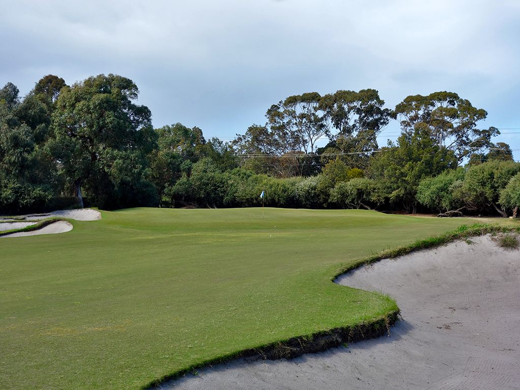 14th Hole at Kingston Heath Golf Club (563 Yard Par 5)