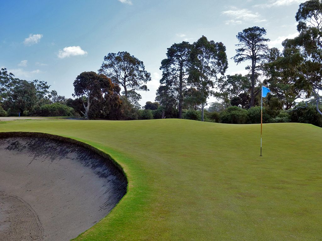 15th Hole at Kingston Heath Golf Club (154 Yard Par 3)