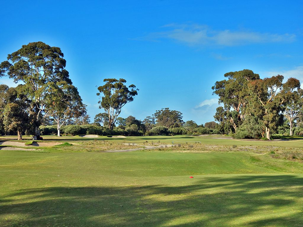 3rd Hole at Kingston Heath Golf Club (294 Yard Par 4)