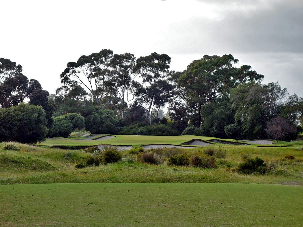 5th Hole at Kingston Heath Golf Club (189 Yard Par 3)