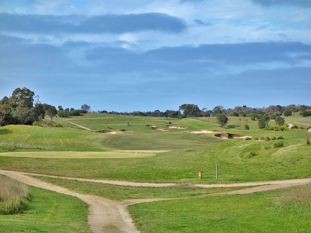 15th Hole at Moonah Links Resort (Open) (537 Yard Par 5)