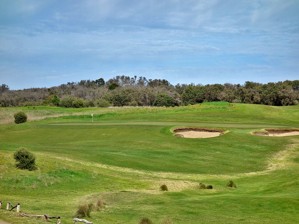 17th Hole at Moonah Links Resort (Open) (202 Yard Par 3)