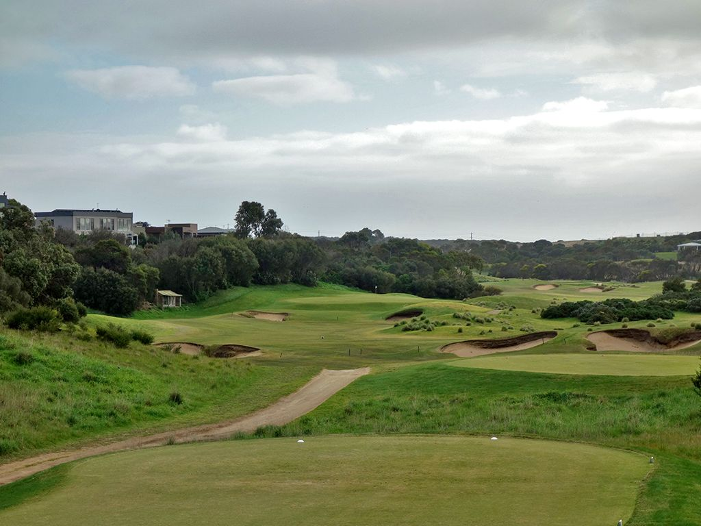 8th Hole at Moonah Links Resort (Open) (468 Yard Par 4)