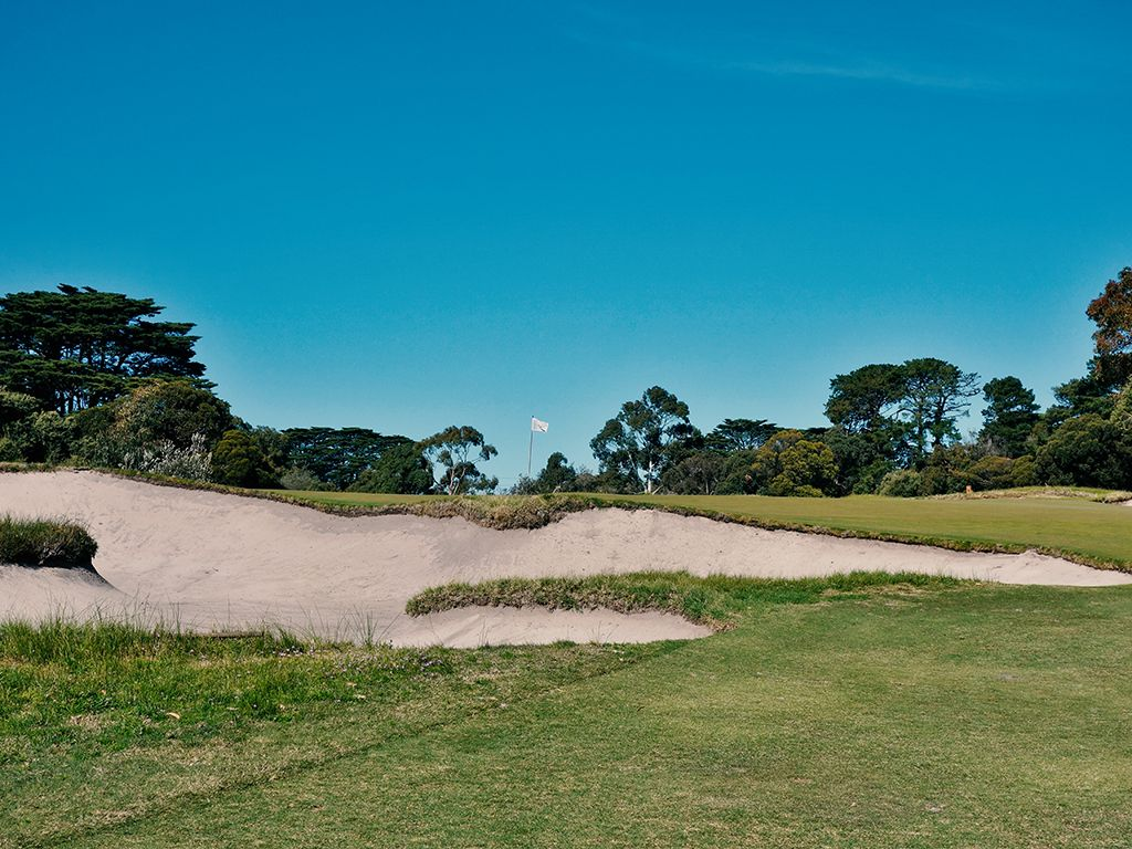 2nd Hole at Royal Melbourne Golf Club (East) (440 Yard Par 4)