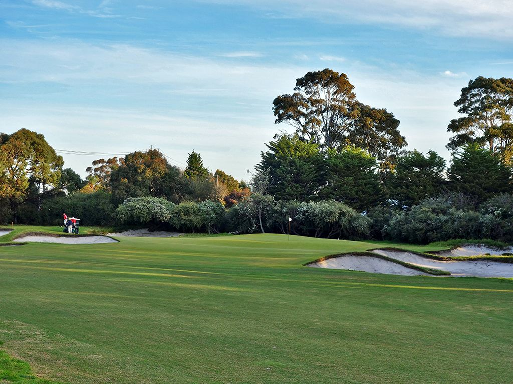 3rd Hole at Royal Melbourne Golf Club (East) (383 Yard Par 4)