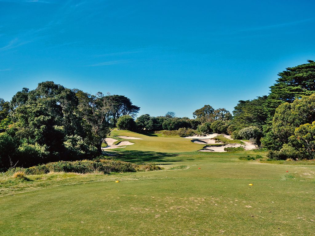 3rd Hole at Royal Melbourne Golf Club (Presidents Cup) (176 Yard Par 3)