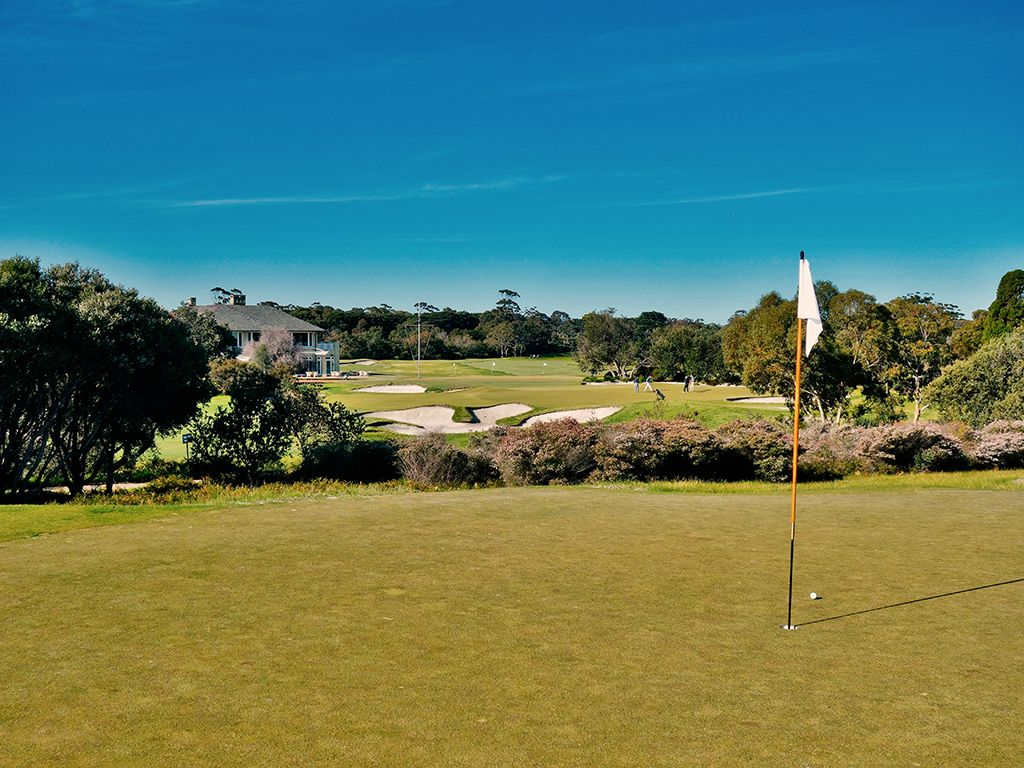 5th Hole at Royal Melbourne Golf Club (Presidents Cup) (148 Yard Par 3)