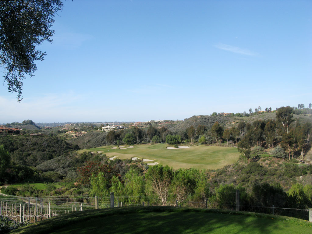 10th Hole at Bridges at Rancho Santa Fe (395 Yard Par 4)