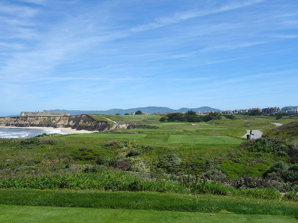 17th Hole at Half Moon Bay (Ocean) (184 Yard Par 3)