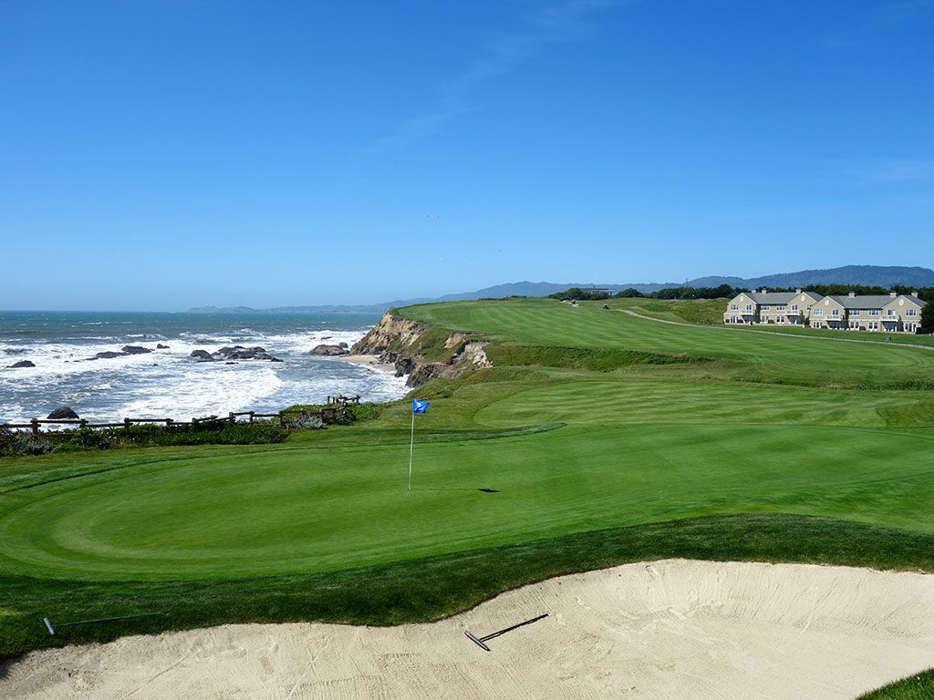 18th Hole at Half Moon Bay (Old) (405 Yard Par 4)
