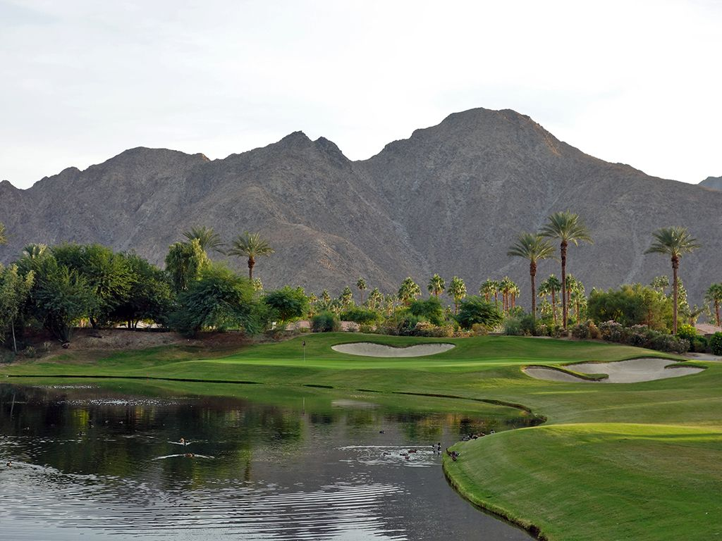 17th Hole at Indian Wells Resort (Players) (146 Yard Par 3)
