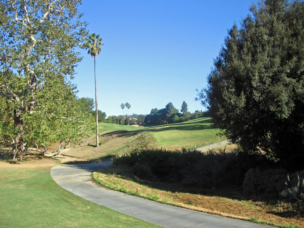 3rd Hole at Los Angeles Country Club (385 Yard Par 4)