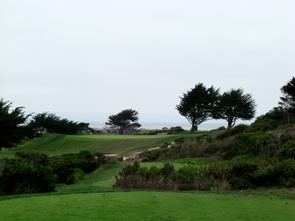 7th Hole at Monterey Peninsula CC (Shore) (226 Yard Par 3)
