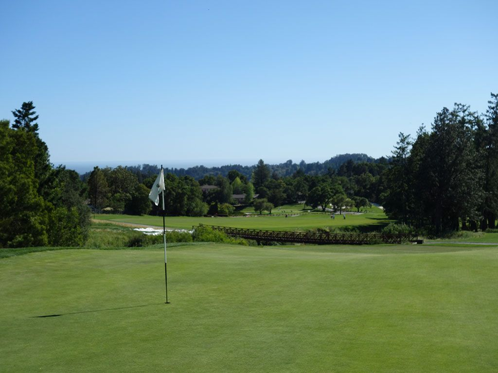 11th Hole at Pasatiempo Golf Club (392 Yard Par 4)