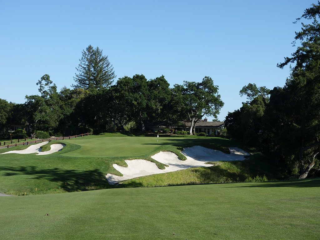 16th Hole at Pasatiempo Golf Club (387 Yard Par 4)